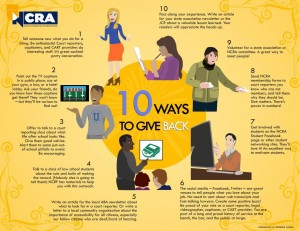 10 ways to give back infographic