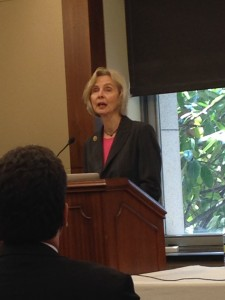 Rep. Lois Capps addresses the Friends of the Congressional Hearing Health Caucus