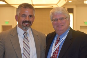 CCRA Immediate Past President Carlos Martinez with NCRA CEO Mike Nelson