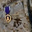 Purple Heart Medal pinned to a U.S. Marines uniform